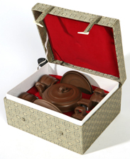 CHINESE YIXING BOXED TEA SET