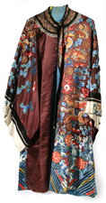 CHINESE IMPERIAL EMBROIDERED SILK ROBE