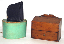 Early Dovetailed Candle Box & Bonnet