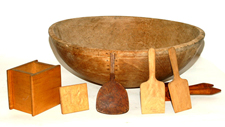 Lg. Early Wooden Bowl & Woodenware