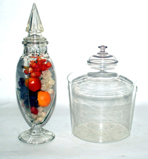 Early Glass Apothecary Jars