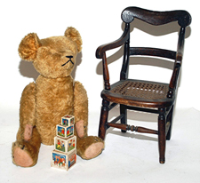 Early Straw Filled Teddy Bear & Children's Items