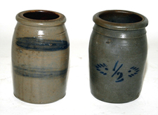 Blue Decorated Stoneware Jars