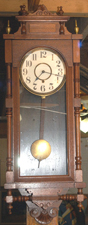 Walnut Hanging Regulator Clock