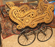 Super Victorian Wicker Baby Buggy