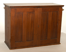 Early Walnut 2-Door Cabinet