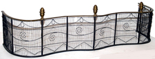 Early Brass & Wire Fireplace Fender