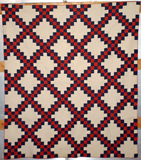 Early Blue & Red Quilt