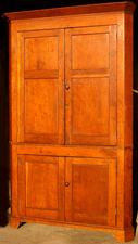 Cherry 4-Door Corner Cupboard