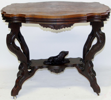 Walnut Victorian Dog Table
