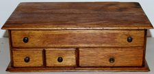 Oak 3-Drawer Needle Case