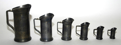 Set of Pewter Measures