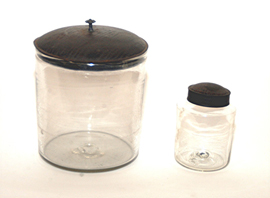 Early Blown Jars With Tin Lids