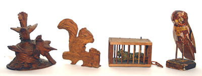 Early Folk Art Carved Animals