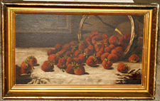 "8 x 15 O.O.C. Still Life of Strawberries  ""CES - 5/09"""