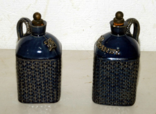 Blue Earthenware Decanters