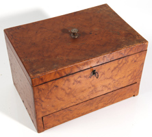 19TH CENTURY BIRDSEYE MAPLE SEWING BOX