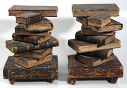 PR. OF CARVED WOODEN BOOK STANDS