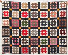 WONDERFUL EARLY PIECED QUILT