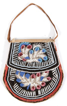 EARLY NATIVE AMERICAN BEADED BAG