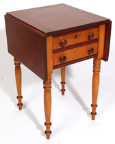 19TH CENTURY 2-DRAWER DROP LEAF STAND