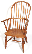 19TH CENTURY ENGLISH WINDSOR ARM CHAIR