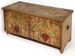 PAINT DECORATED 18TH CENTURY BLANKET CHEST