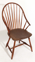 UNUSUAL 13-SPINDLE WINDSOR ARM CHAIR