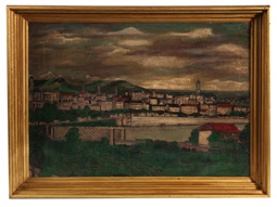OIL PAINTING OF IVREA ITALY
