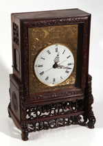 FINE CHINESE CARVED  BRACKET CLOCK