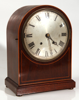FINE INLAID MAHOGANY BRACKET CLOCK