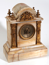 ORNATE FRENCH MARBLE CLOCK