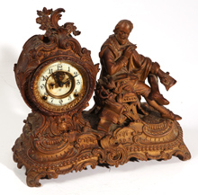 ANSONIA FIGURAL MANTLE CLOCK