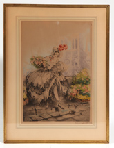 "LOUIS ICART ""MUSETTE"" ETCHING & AQUATINT"