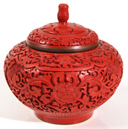 CHINESE CINNABAR COVERED BOWL