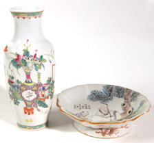 TWO PCS. OF EARLY CHINESE PORCELAIN