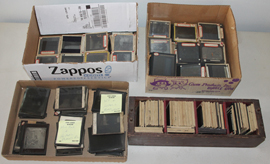 MANY GLASS SLIDES