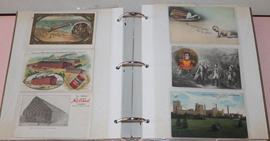 LARGE LOT OF ADV. POSTCARDS