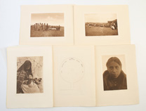 4 EDWARD CURTIS PHOTOGRAVURES OF AMERICAN INDIANS
