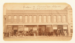 ALBUMEN STREET SCENE PHOTO OF CASSELTON, DAKOTA TERRITORY