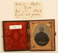 AMBROTYPE PHOTO OF WAR OF 1812 VETERAN