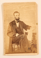 SCARCE CDV PHOTO OF LINCOLN