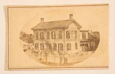 ALBUMEN CDV OF LINCOLN'S SPRINGFIELD HOME