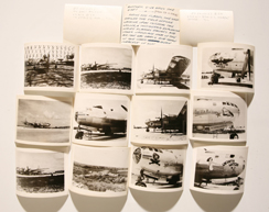 WWII PHOTOGRAPHS OF BOMBER NOSE ART PLUS
