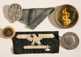 GROUP OF WWII NAZIS & FASCIST ITALY BADGES