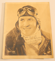 AUTOGRAPHED PHOTO AVIATOR JIMMIE MATTERN