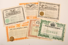 LOT OF EARLY STOCK CERTIFICATES