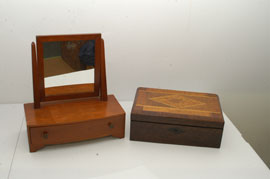Inlaid Lap Desk & Mirror