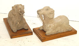 Walnut Sheep  Figures