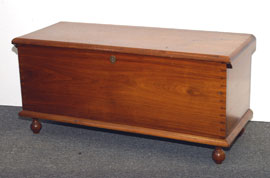 Early Walnut Blanket Chest